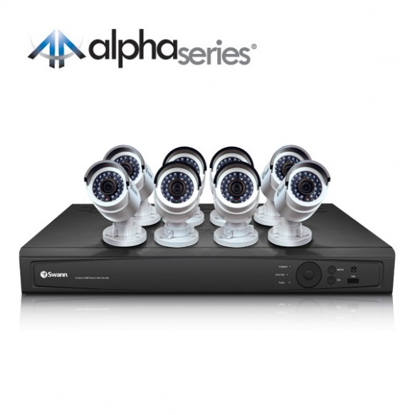 16 channel hd nvr security system with 8 x 3mp hd cameras swann communications usa - Nvr Security System