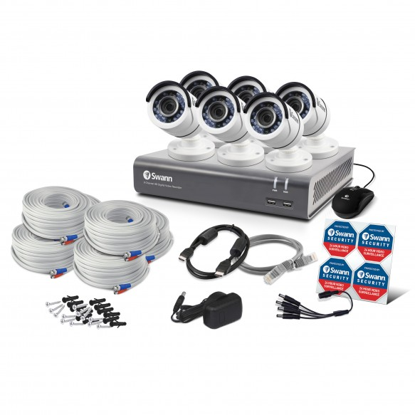 8d88494e585d8 Swann 8 Channel Security System  1080p Full HD DVR-4575 with 500GB HDD   6  x 1080p PRO-T852 Bullet Cameras