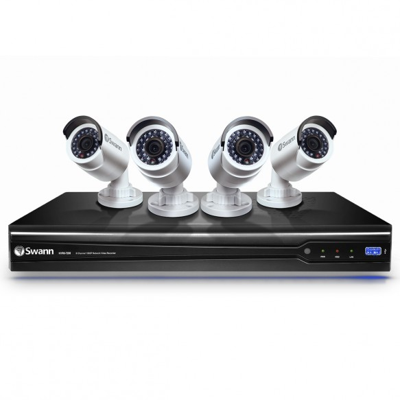 CONV8-A3MP4C 8 Channel 3MP NVR Security System with 2TB HDD and 4 x 3 Megapixel Cameras -