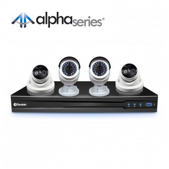 CONV8-C3MPB2D2 NVR8-7090 8 Channel 3MP NVR with Smartphone Viewing & 2 x NHD-835 Bullet Cameras & 2 x NHD-836 Dome Cameras -