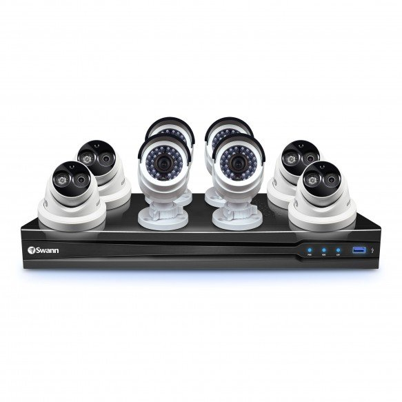 CONV8-C3MPB4D4 NVR8-7090 8 Channel 3MP NVR with Smartphone Viewing & 4 x NHD-835 Bullet Cameras & 4 x NHD-836 Dome Cameras -