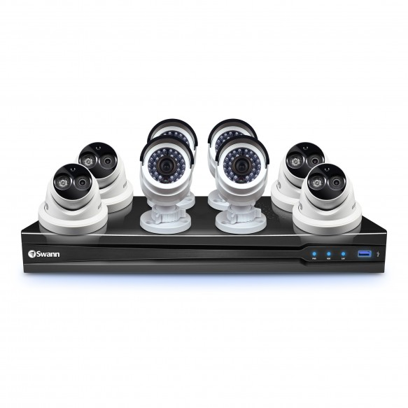 CONV8-C3MPB4D4 NVR8-7090 8 Channel 3MP NVR with Smartphone Viewing & 4 x NHD-835 Bullet Cameras & 4 x NHD-836 Dome Cameras (Discontinued)  -