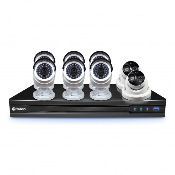 CONV8-C3MPB6D2 NVR8-7090 8 Channel 3MP NVR with Smartphone Viewing & 6 x NHD-835 Bullet Cameras & 2 x NHD-836 Dome Cameras -