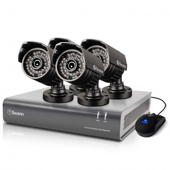 SWDVK-444004A DVR4-4400 - 4 Channel 720p Digital Video Recorder & 4 x PRO-735 Cameras -