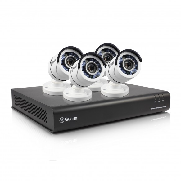 SWDVK-845004 DVR8-4500 8 Channel 1080p Digital Video Recorder with 4 x PRO-T855 Cameras -