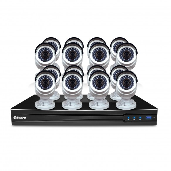 SONVK-1670916 NVR16-7095 16 Channel 3MP Network Video Recorder with 16 x NHD-835 3MP Bullet IP Cameras (Discontinued) -
