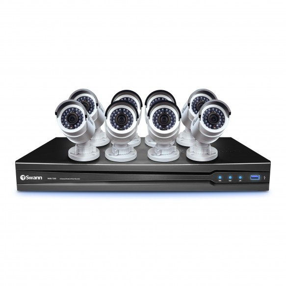 CONV8-A10808C NVR8-7200 8 Channel NVR with Smartphone Viewing & 8 x NHD-820 Cameras -