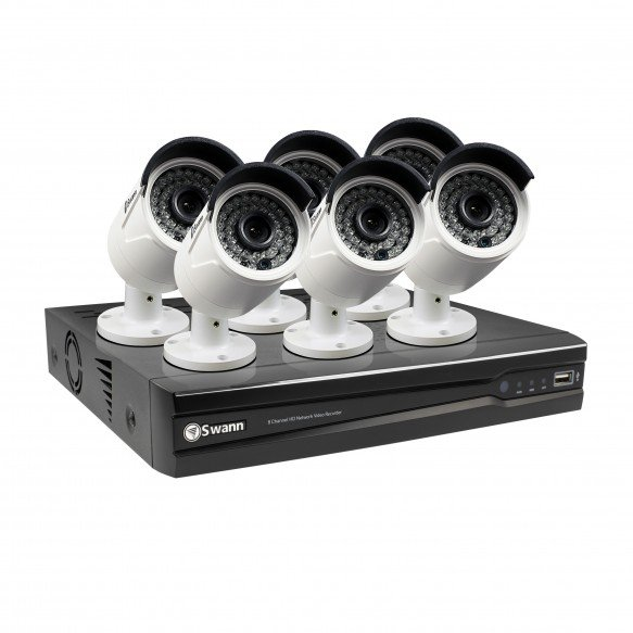 CONV8-A4MP6C 8 Channel 4MP Network Video Recorder & 6 x 4MP Cameras (Plain Box Packaging) -