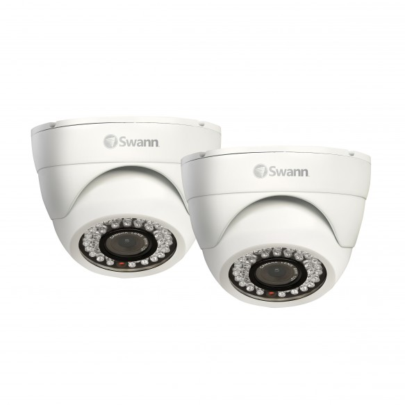PRO-843 - High-Resolution Dome Camera - Night Vision 85ft / 25m 2 Pack