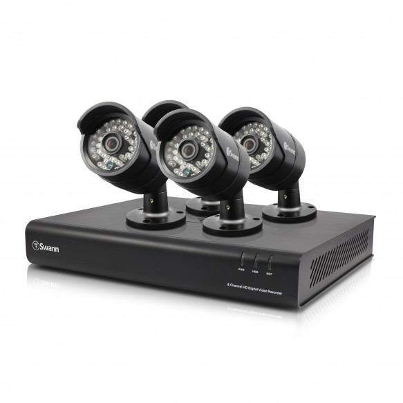 SODVK-8720P114 DVR8-4350 8 Channel 720p Digital Video Recorder with 4 x PRO-H850 Cameras -