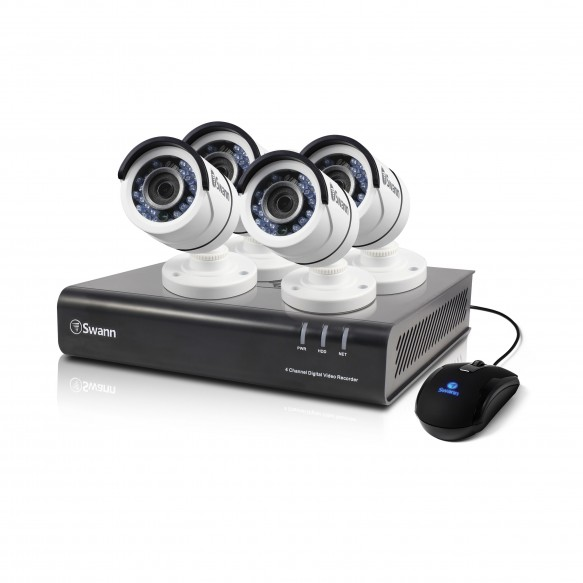SWDVK-445004 DVR4-4500 4 Channel 1080p Digital Video Recorder with 4 x PRO-T855 Cameras -