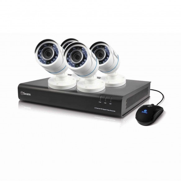 SWDVK-443504 DVR4-4350 4 Channel 720p Digital Video Recorder with 4 x PRO-T845 Cameras -