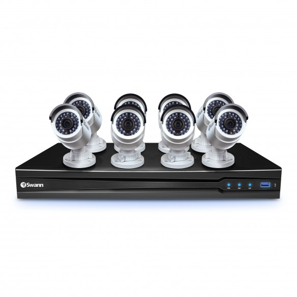 SONVK-870908 NVR8-7090 8 Channel 3MP Network Video Recorder with Smartphone Viewing & 8 x NHD-835 Cameras -