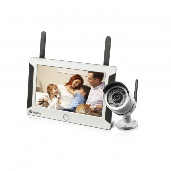 SWNVW-470KIT NVW-470 All-in-One SwannSecure - Wi-Fi HD Monitoring System with Monitor & Camera -
