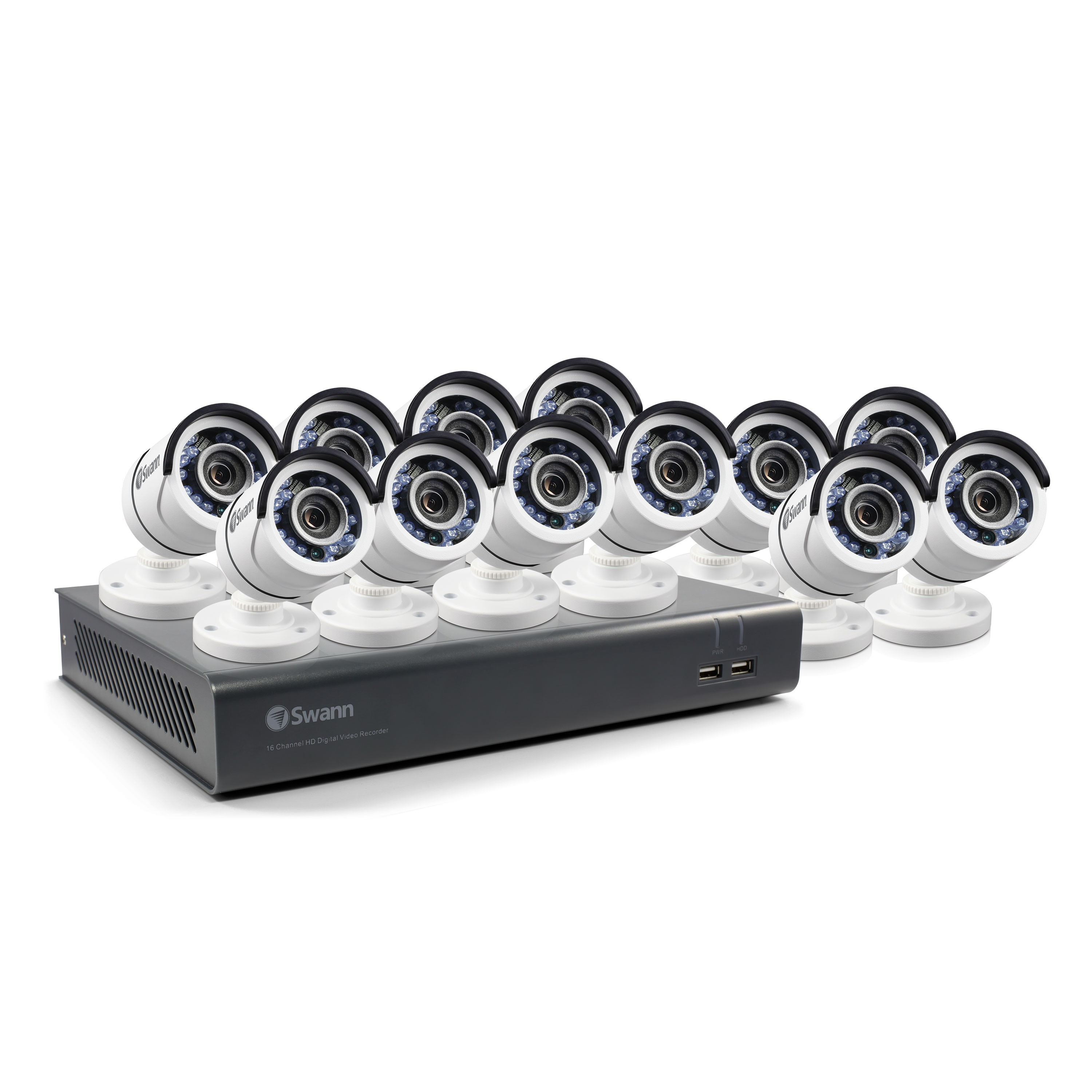 SWDVK-1645912 12 Camera 16 Channel 1080p Full HD DVR Security System 2TB HDD, Motion Sensing + Night Vision  -