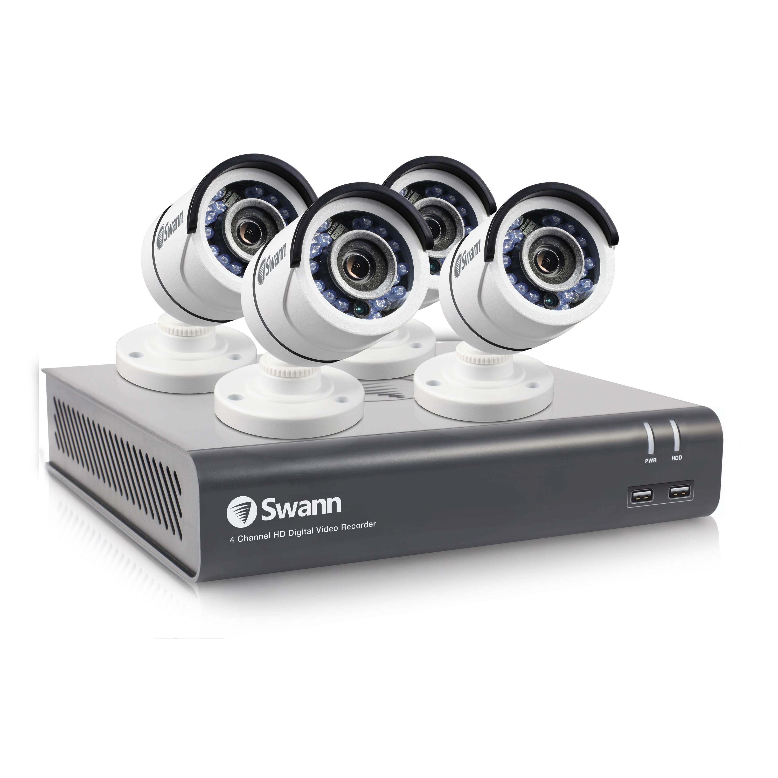 SWDVK-445954 Swann 4 Channel Security System: 1080p Full HD DVR-4575 with 1TB HDD & 4 x 1080p Bullet Cameras PRO-T852 -