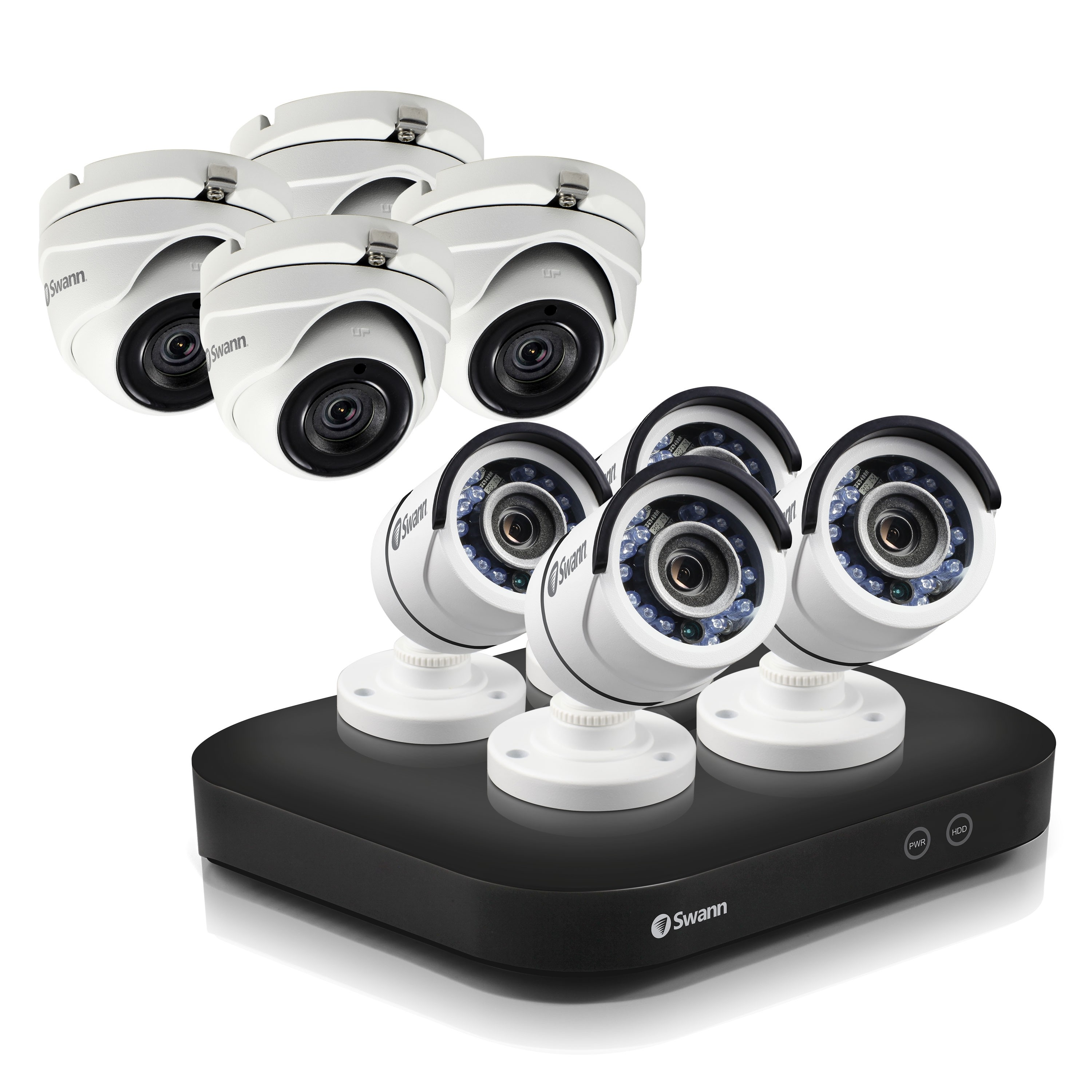 SODVK-849004D4 Swann 8 Channel Security System: 5MP Super HD DVR with 2TB HDD & 8 x 5MP Bullet & Dome Cameras -
