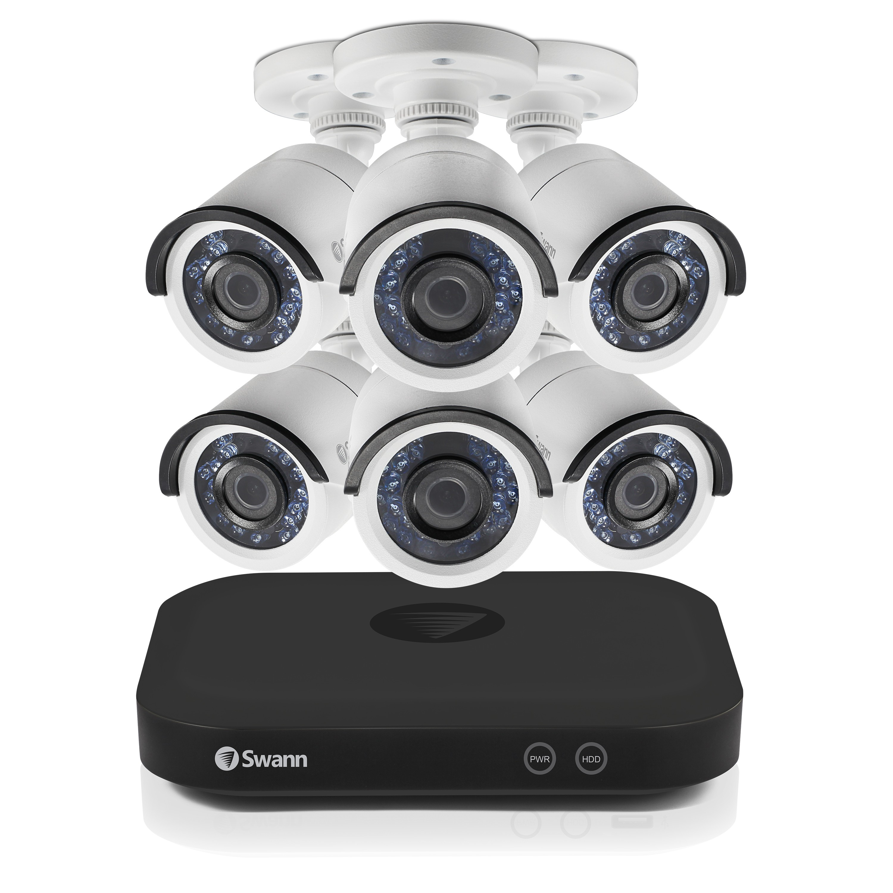 SODVK-849006 Swann 8 Channel Security System: 5MP Super HD DVR with 2TB HDD & 6 x 5MP Bullet Cameras (Plain Box Packaging) -