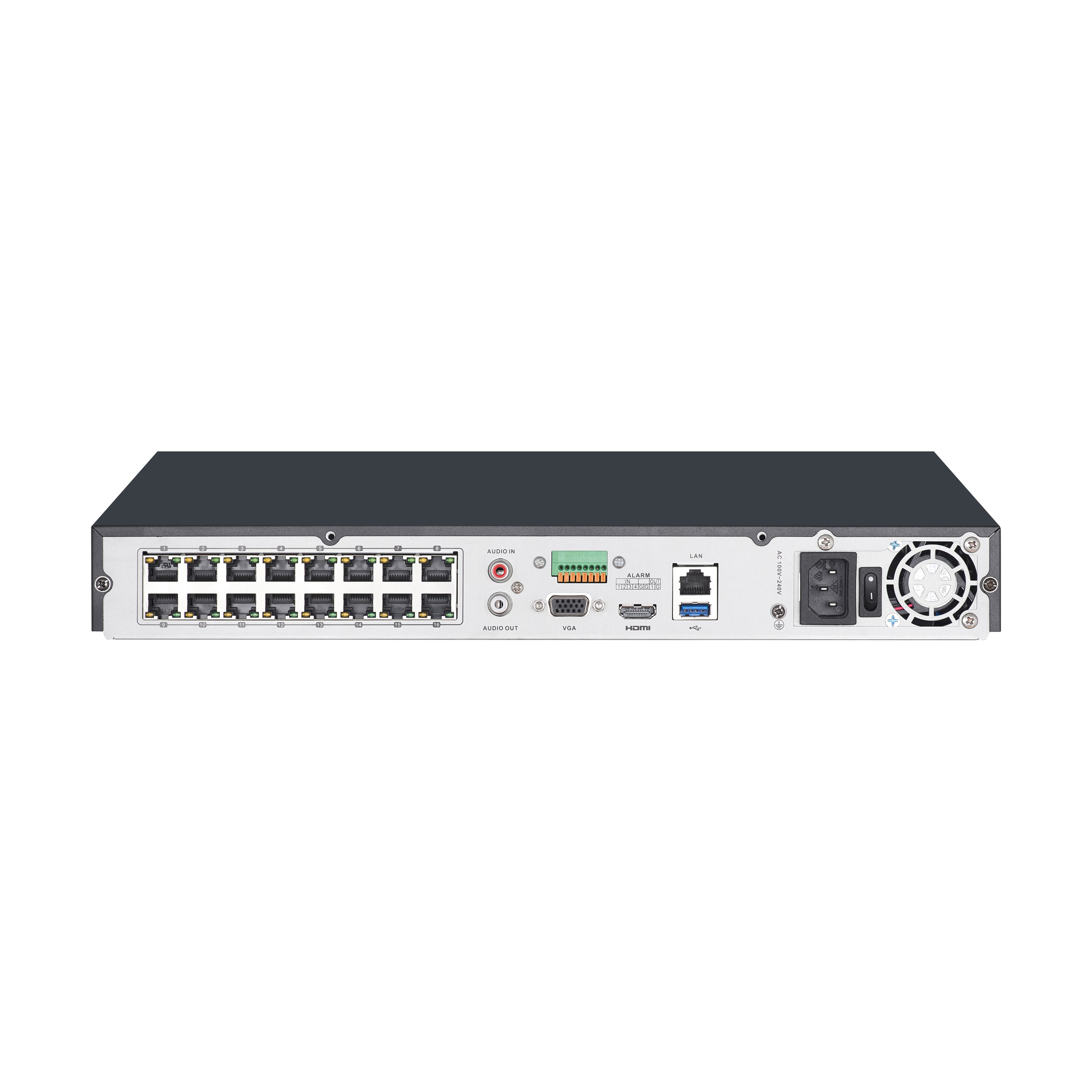 16 Channel 4k Uhd Nvr Security System With 8 Nhd 880 Bullet Cameras Home Blog Product Highlights Poe Network Switch For Ip Camera Review Nvr16 8000 Usa