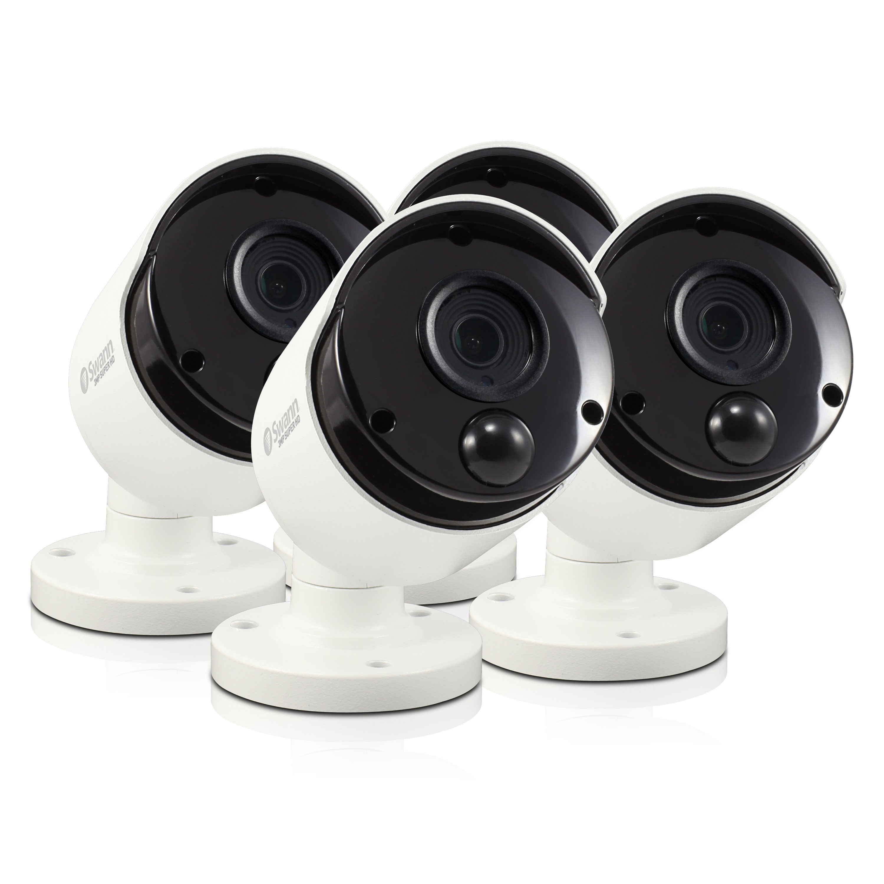 R-SRPRO-5MPMSBWB4 Swann Thermal Sensing PIR Security Camera: 5MP Super HD Bullet with IR Night Vision 4 Pack Bundle (Plain Box Packaging) -