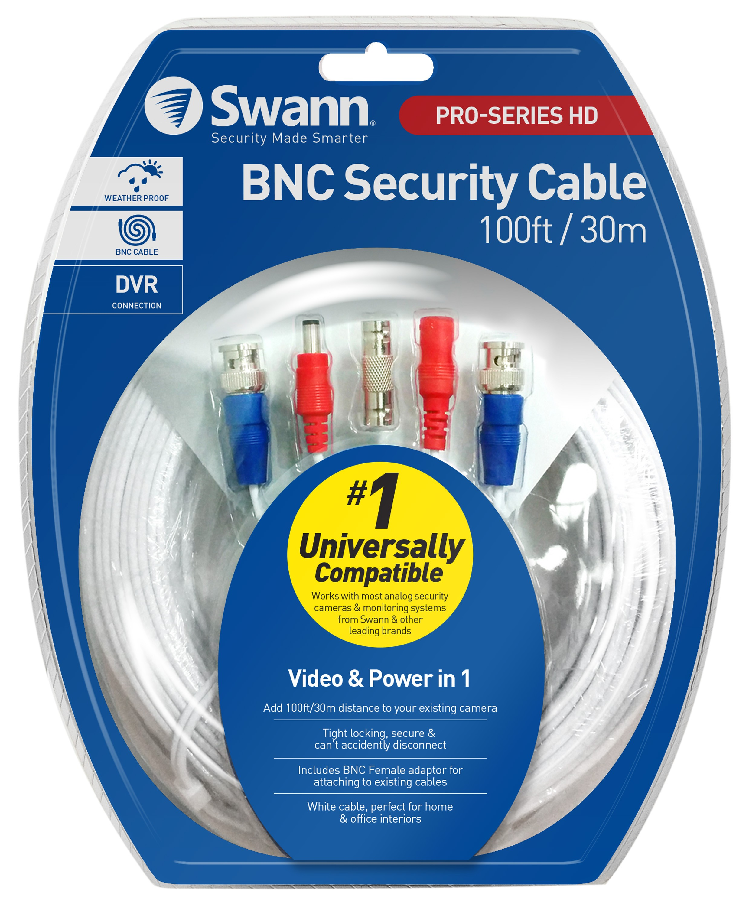 HD Video & Power 100ft / 30m BNC Cable on
