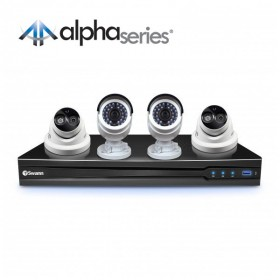 NVR8-7090 8 Channel 3MP NVR with Smartphone Viewing & 2 x NHD-835 Bullet Cameras & 2 x NHD-836 Dome Cameras