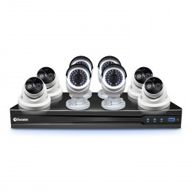 NVR8-7090 8 Channel 3MP NVR with Smartphone Viewing & 4 x NHD-835 Bullet Cameras & 4 x NHD-836 Dome Cameras
