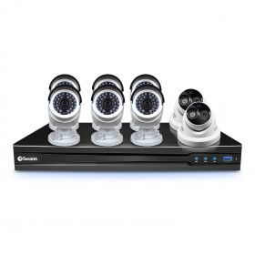 NVR8-7090 8 Channel 3MP NVR with Smartphone Viewing & 6 x NHD-835 Bullet Cameras & 2 x NHD-836 Dome Cameras