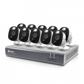 10 Camera 16 Channel 1080p Full HD DVR Security System