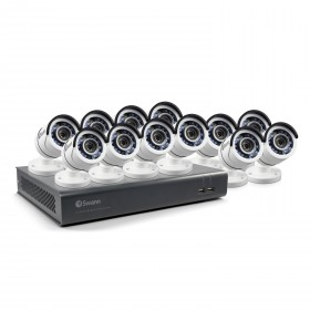 12 Camera 16 Channel 1080p Full HD DVR Security System 2TB HDD, Motion Sensing + Night Vision