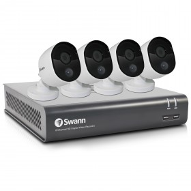 Swann 8 Channel Security System: 1080p Full HD DVR-4575 with 1TB HDD & 4 x 1080p Thermal Sensing Cameras PRO-1080MSB (DVK-4580)