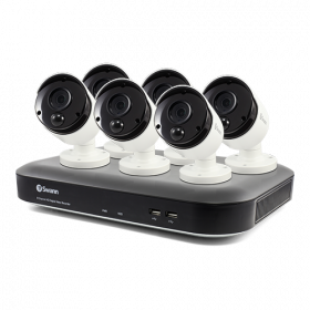 6 Camera 8 Channel 5MP Super HD DVR Security System (Discontinued)