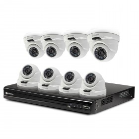 NVR16-7400 8 Channel 4MP Network Video Recorder & 8 x NHD-819 4MP Dome Cameras (Discontinued)