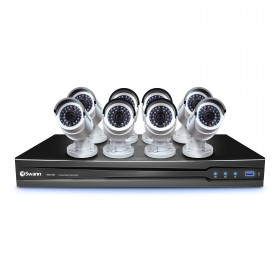NVR8-7200 8 Channel NVR with Smartphone Viewing & 8 x NHD-820 Cameras (Discontinued)