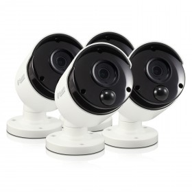 Swann Thermal Sensing PIR Security Camera: 5MP Super HD Bullet with IR Night Vision 4 Pack Bundle (Plain Box Packaging)