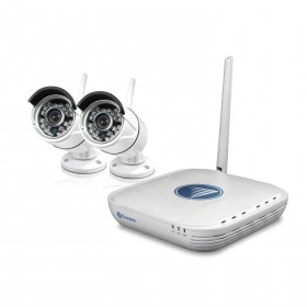 NVK-460 Wi-Fi Security Kit - Micro Monitoring System with 2 x 720p Day/Night Cameras & Smartphone Connectivity