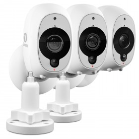 Swann Smart Security Camera Kit: 1080p Full HD Wireless Security Camera 3 Pack with 2 x Outdoor Mounting Stand