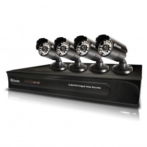 8 Channel 960H security system DVR with 4 x security cameras view 1