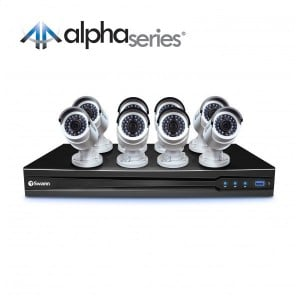 CONV16-C3MP8C NVR16-7090 16 Channel 3MP Network Video Recorder & 8 x NHD-820 1080p HD Network Security Camera (Discontinued)  -