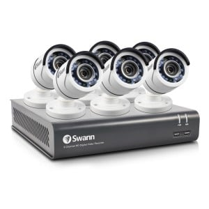 Swann 8 Channel Security System: 1080p Full HD DVR-4575 with 500GB HDD & 6 x 1080p PRO-T852 Bullet Cameras