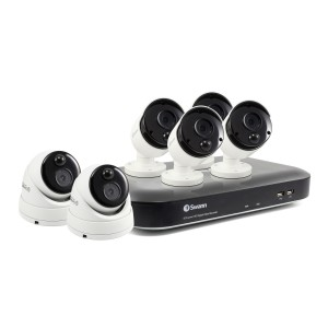 CODV8-55804B2D-US Swann 8 Channel Security System: 4K Ultra HD DVR-5580 with 2TB HDD & 6 x 4K Thermal Sensing Cameras -