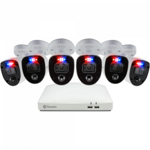 R-SWDVK-85680W6RL Refurbished Enforcer 6 Camera 8 Channel 4K Ultra HD DVR Security System -
