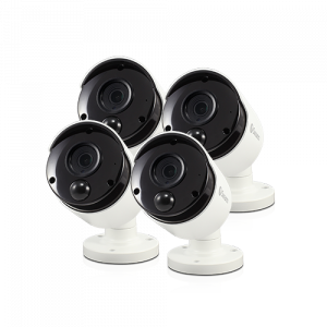 R-SRPRO-4KMSBWB4 4K Ultra HD Thermal Sensing Bullet Security Camera PRO-4KMSB 4 Pack -