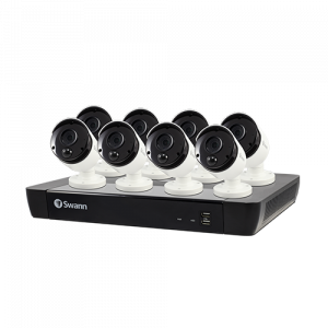 SWNVK-1675808 8 Camera 16 Channel 5MP Super HD NVR Security System   -