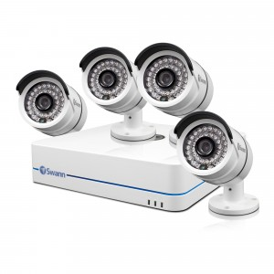 NVR4-7085 720p HD video surveillance and 4 x HND-806 surveillance cameras view 1