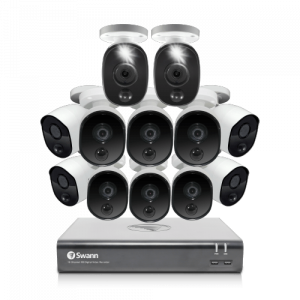 SODVK-1645810B2WL 12 Camera 16 Channel 1080p Full HD DVR Security System -