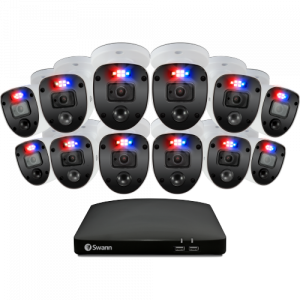 SWDVK-16468012SL Enforcer 12 Camera 16 Channel 1080p Full HD DVR Security System -