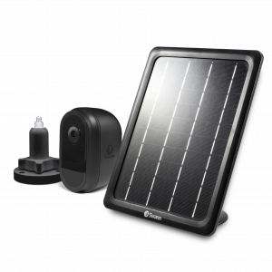 SWIFI-CAMBSOLSTD Wire-Free Black 1080p Security Camera with Solar Charging Panel & Outdoor Stand -