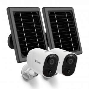 SWIFI-XTRCAMKITB Xtreem Security 2 Camera Kit with Outdoor Solar Panels & Mount Stands -