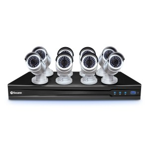 NVR8-7090 8 Channel 3MP Network Video Recorder with Smartphone Viewing & 8 x NHD-835 Cameras